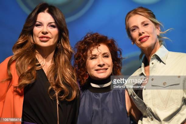 Alba Parietti Alda D'Eusanio and Alessia Marcuzzi attend 'L'Isola Dei Famosi 2019' photocall on January 22 2019 in Milan Italy