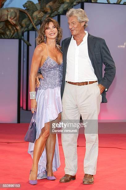 Alba Parietti and Giuseppe Lanza di Scalea during 2005 Venice Film Festival Casanova Premiere Red Carpet at Palazzo del Cinema in Venice Lido Italy