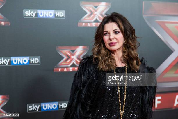 Alba Parietti attending the red carpet of the X Factor 11 Finale