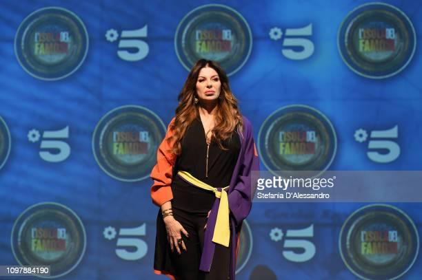 Alba Parietti attends L'Isola Dei Famosi 2019 photocall on January 22 2019 in Milan Italy