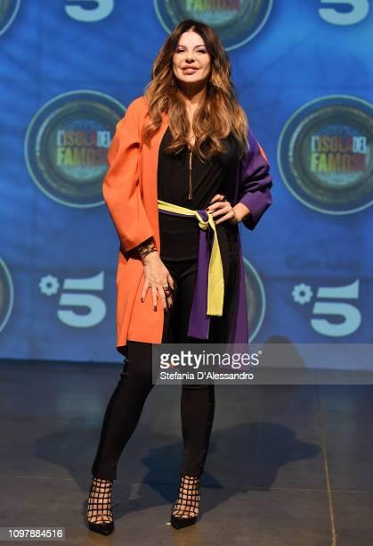 Alba Parietti attends 'L'Isola Dei Famosi 2019' photocall on January 22 2019 in Milan Italy