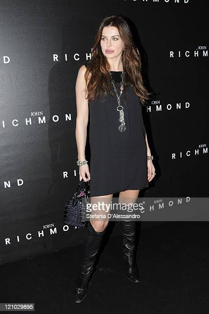 Alba Parietti attends the John Richmond show as part of Milan Fashion Week Autumn/Winter 2009/2010 Menswear on January 19 2009 in Milan Italy