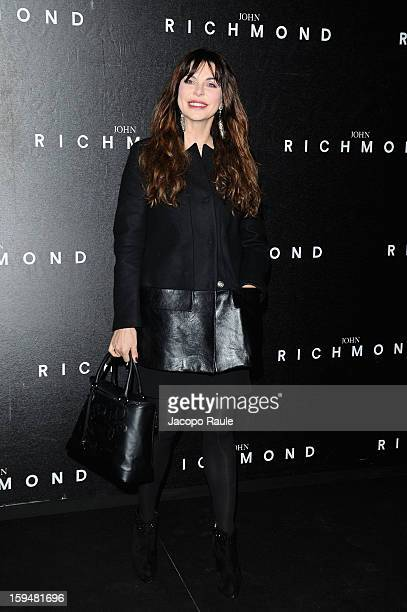 Alba Parietti attends the John Richmond show as part of Milan Fashion Week Menswear Autumn/Winter 2013 on January 14 2013 in Milan Italy
