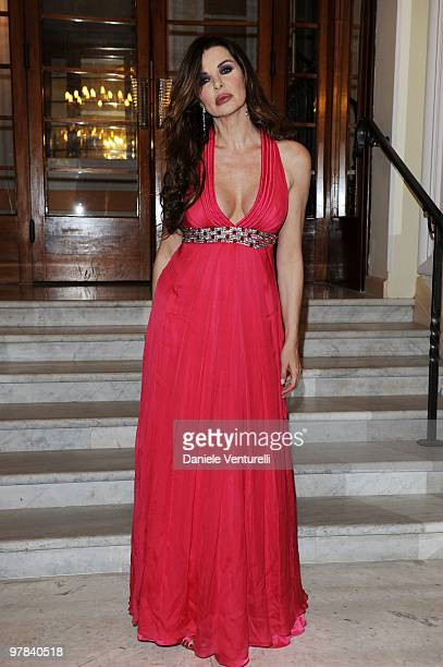 Alba Parietti attends the ''Premio TV 2010'' Ceremony held at Teatro Ariston on March 18 2010 in San Remo Italy