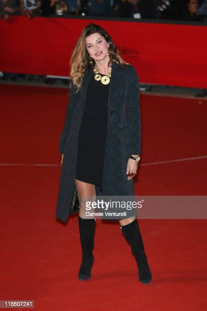 Alba Parietti during 1st Annual Rome Film Festival 'Napoleon and Me' Premiere Arrivals at Auditorium Parco della Musica in Rome Italy