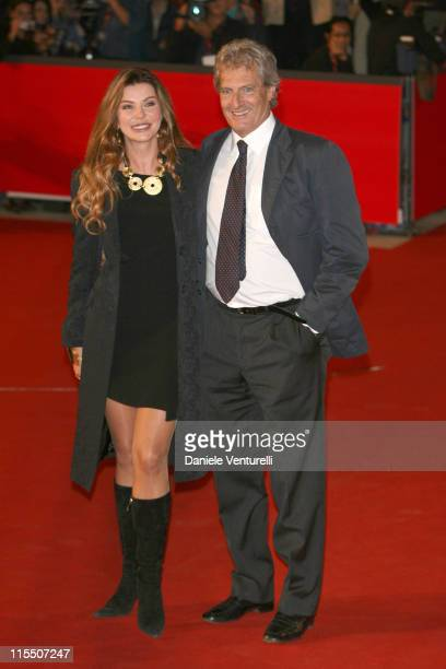 Alba Parietti Giuseppe Lanza di Scalea during 1st Annual Rome Film Festival 'Napoleon and Me' Premiere Arrivals at Auditorium Parco della Musica in...