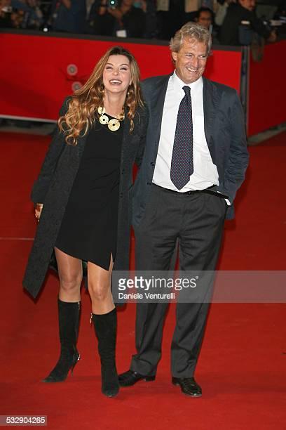 Alba Parietti Giuseppe Lanza di Scalea during 1st Annual Rome Film Festival Napoleon and Me Premiere Arrivals at Auditorium Parco della Musica in...
