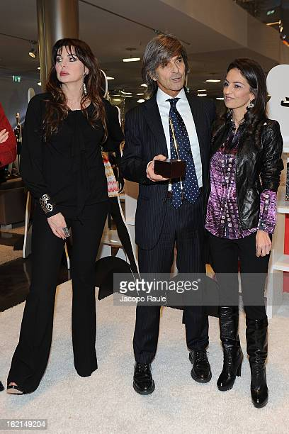 Alba Parietti Roberto Alessi and Alessandra Moschillo attend 50th Anniversary 'Minigonna' Celebration during MFW F/W 2013 on February 19 2013 in...