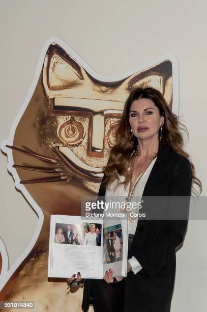 Alba Parietti showgirl during to submit 'Telegatto' Italian television award sponsored by the weekly magazine TV Sorrisi e Canzoni at Tempo di Libri...