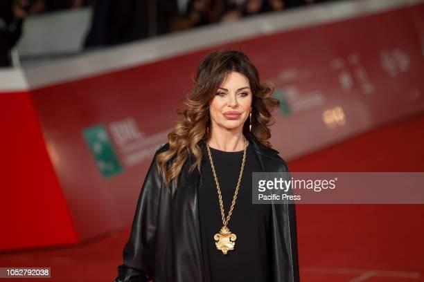 Alba Parietti walk the red carpet of 13th edition of Rome Cinema Fest at Auditorium Parco della Musica in Rome