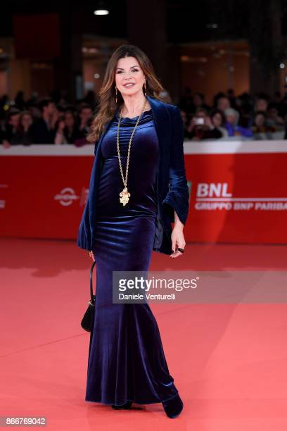 Alba Parietti walks a red carpet for Hostiles during the 12th Rome Film Fest at Auditorium Parco Della Musica on October 26 2017 in Rome Italy