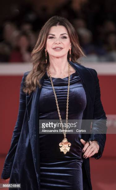 Alba Parietti walks a red carpet for 'Hostiles' during the 12th Rome Film Fest at Auditorium Parco Della Musica on October 26 2017 in Rome Italy