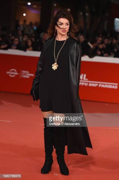 Alba Parietti walks the red carpet during the 13th Rome Film Fest at Auditorium Parco Della Musica on October 22 2018 in Rome Italy