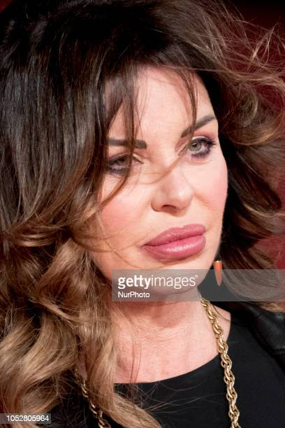Alba Parietti walks the red carpet during the 13th Rome Film Fest at Auditorium Parco Della Musica on October 22 2018 in Rome Italy
