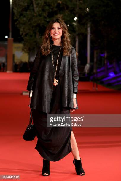 Alba Parietti walks the red carpet for 'La Ragazza Nella Nebbia' during the 12th Rome Film Fest at Auditorium Parco Della Musica on October 25 2017...
