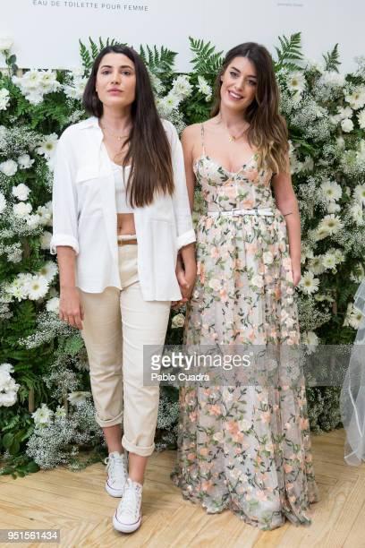 Alba Paul and Aida Domenech aka Dulceida present fragrance 'YouMe Mucho Amor' on April 26 2018 in Madrid Spain