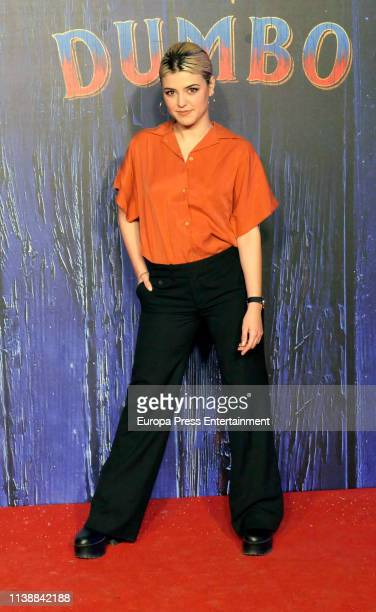 Alba Reche attends 'Dumbo' premiere at Principe Pio Theatre on March 27 2019 in Madrid Spain