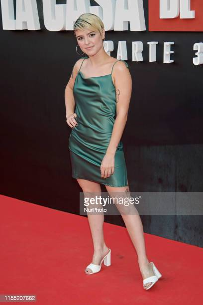Alba Reche attends the 'La Casa de Papel' 3rd season premiere at Callao Cinema in Madrid Spain on Jul 11 2019