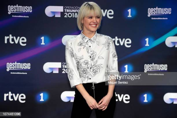 Alba Reche attends the Operacion Triunfo 2018 Winner Press Conference on December 20 2018 in Barcelona Spain