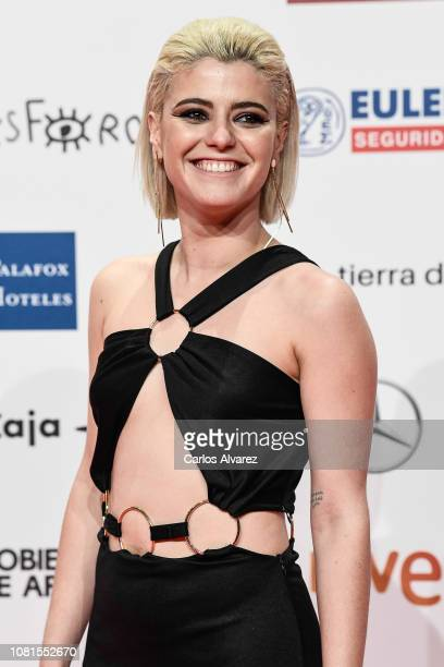 Alba Reche attends the red carpet during 'Jose Maria Forque Awards' 2019 at Palacio de Congresos on January 12 2019 in Zaragoza Spain