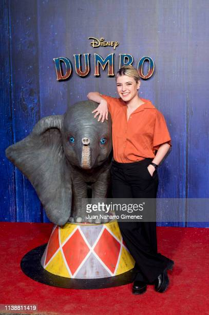 Alba Reche attends the Special Screening Of Tim Burton's 'Dumbo' at Principe Pio Theater on March 27 2019 in Madrid Spain