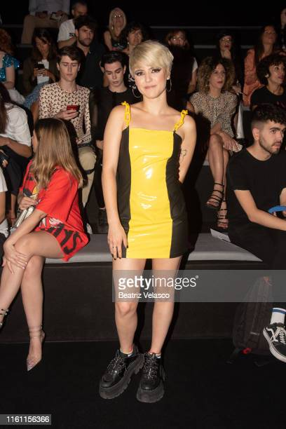 Alba Reche attends Wallapor por María Escoté fashion show during the Mercedes Benz Fashion Week Spring/Summer 2020 at Ifema on July 10 2019 in Madrid...
