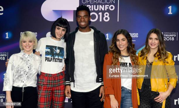 Alba Reche Natalia Famous Julia Sabela the winner of TV's Operacion Triunfo poses for a photo session on December 20 2018 in Barcelona Spain