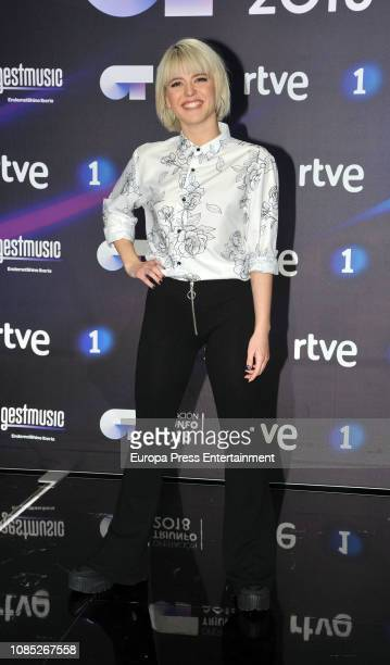 Alba Reche the winner of TV's Operacion Triunfo poses for a photo session on December 20 2018 in Barcelona Spain