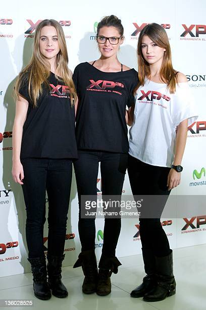 Alba Ribas Amaia Salamanca and Ursula Corbero attend 'XP3D' photocall at Telefonica Flagship Store on December 20 2011 in Madrid Spain