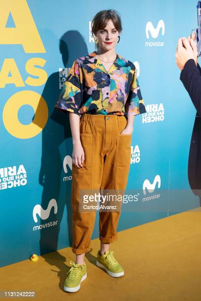 Alba Ribas attends 'Mira lo que has Hecho' second season premiere at the Capitol cinema on February 21 2019 in Madrid Spain