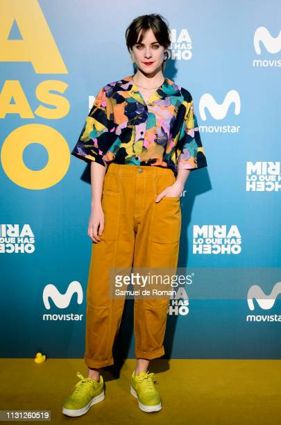 Alba Ribas attends 'Mira Lo Que Has Hecho' Second Season Premiere In Madrid on February 21 2019 in Madrid Spain