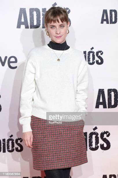 Alba Ribas attends the 'Adios' premiere at 'Capitol' cinema in Madrid Spain on Nov 19 2019