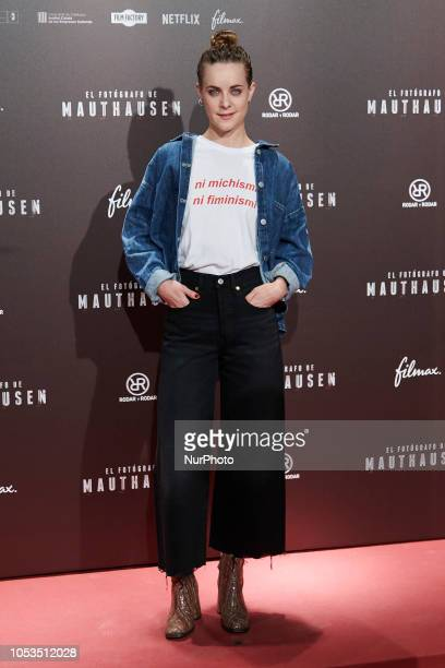 Alba Ribas attends the 'El Fotografo de Mauthausen' premiere photocall at Callao Cinema in Madrid on October 25 2018