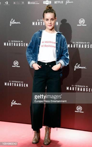 Alba Ribas attends the Premiere 'El Fotografo de Mathausen' at the Capitol cinema on October 25 2018 in Madrid Spain