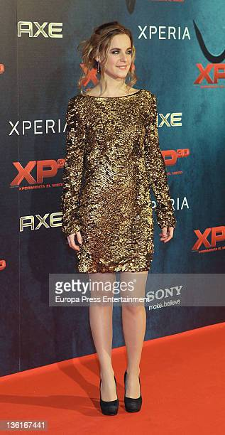 Alba Ribas attends 'XP3D' premiere at Callao Cinema on December 27 2011 in Madrid Spain