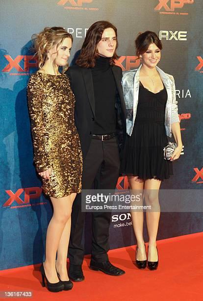 Alba Ribas Oscar Sinela and Ursula Corbero attend 'XP3D' premiere at Callao Cinema on December 27 2011 in Madrid Spain