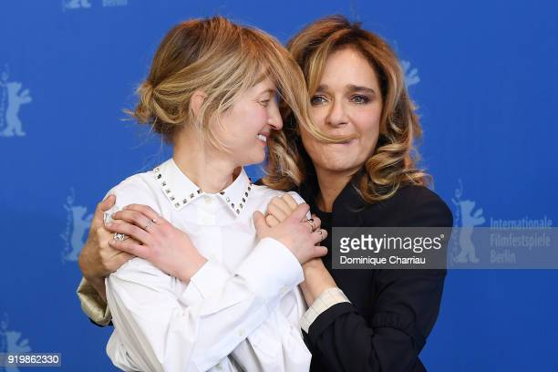 Alba Rohrwacher and Valeria Golino pose at the 'Daughter of Mine' photo call during the 68th Berlinale International Film Festival Berlin at Grand...