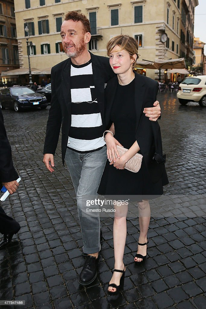 Alba Rohrwacher arrives the 2015 Globo D'Oro at Piazza Farnese on June 16, 2015 in Rome, Italy.