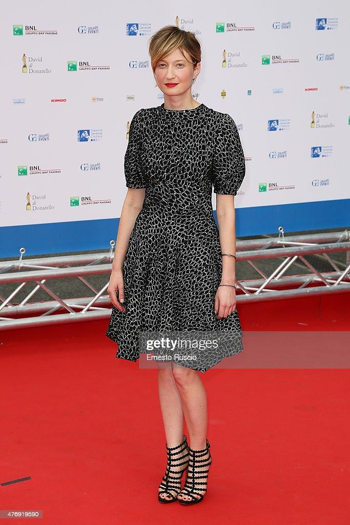 Alba Rohrwacher attends the '2015 David Di Donatello' Awards Ceremony at Teatro Olimpico on June 12, 2015 in Rome, Italy.