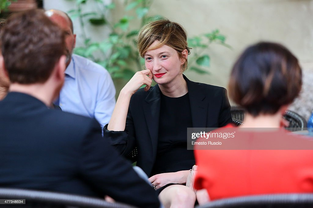 Alba Rohrwacher attends the 2015 Globo D'Oro at Piazza Farnese on June 16, 2015 in Rome, Italy.