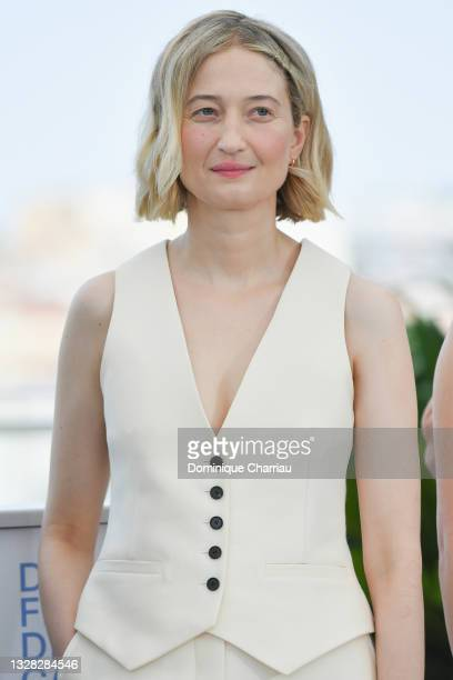 """Alba Rohrwacher attends the """"Tre Piani """" photocall during the 74th annual Cannes Film Festival on July 12, 2021 in Cannes, France."""