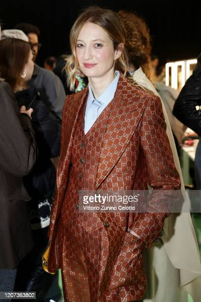Alba Rohrwacher is seen backstage at the Gucci Backstage during Milan Fashion Week Fall/Winter 2020/21 on February 19 2020 in Milan Italy