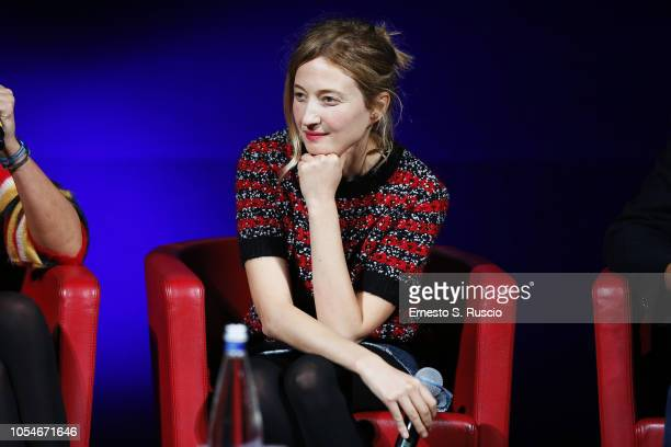Alba Rohrwacher meets the audience during the 13th Rome Film Fest at Auditorium Parco Della Musica on October 28 2018 in Rome Italy