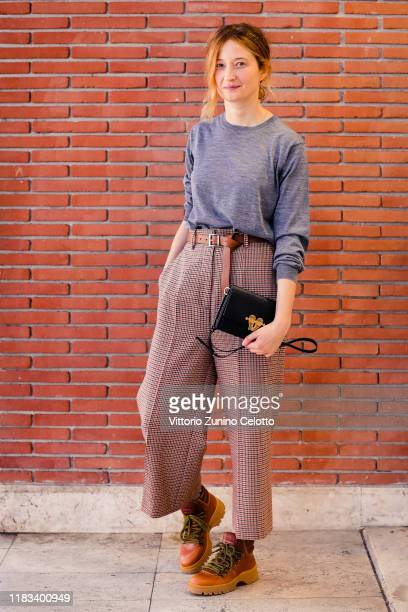 Alba Rohrwacher poses for the photographer during the 14th Rome Film Festival on October 25 2019 in Rome Italy
