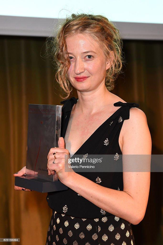 Alba Rohrwacher receives the award during 'Premio Cabiria' gala dinner during the 34 Torino Film Festival on November 22, 2016 in Turin, Italy.