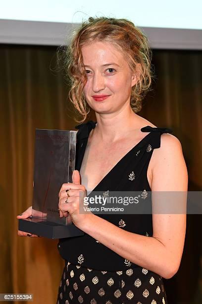 Alba Rohrwacher receives the award during 'Premio Cabiria' gala dinner during the 34 Torino Film Festival on November 22 2016 in Turin Italy