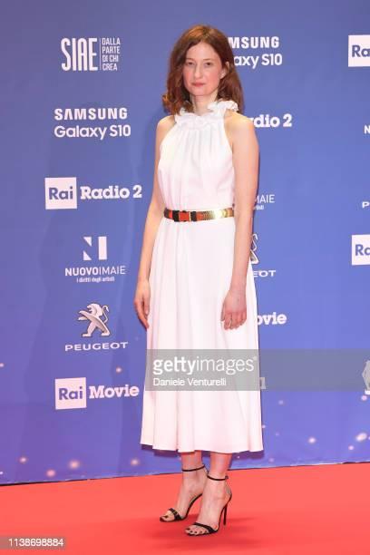 Alba Rohrwacher walks a red carpet ahead of the 64 David Di Donatello awards ceremony Red Carpet on March 27 2019 in Rome Italy