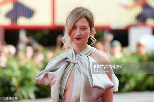 Alba Rohrwacher walks the red carpet ahead of the 'My Brilliant Friend ' screening during the 75th Venice Film Festival at Sala Grande on September 2...