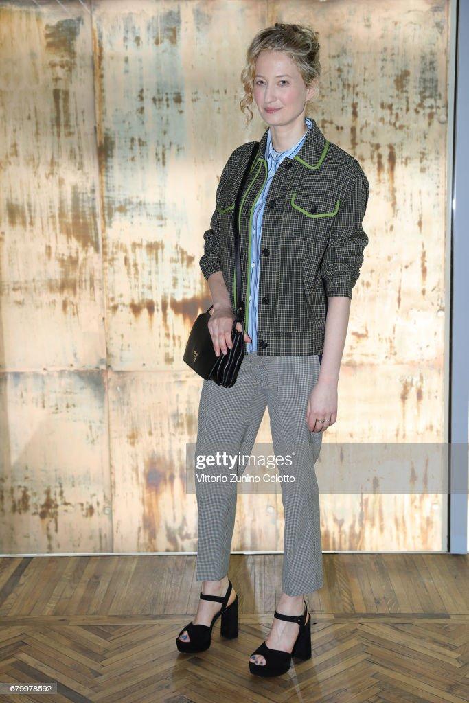 Alba Rohrwacher (in Prada) while attending the Prada Resort 2018 Womenswear Show in Osservatorio on May 7, 2017 in Milan, Italy.