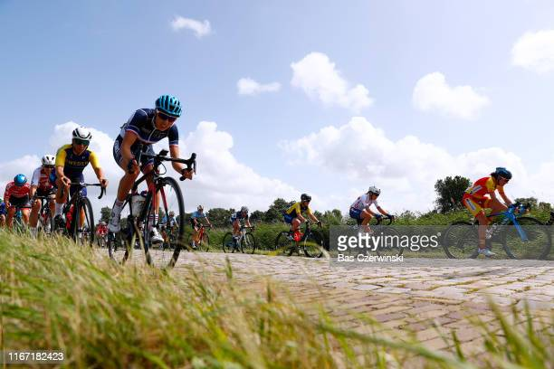 Alba Teruel Ribes of Spain / Lucy Garner Great of Britain / Sara Penton of Sweden / Aude Biannic of France / Peloton / Cobblestones / during the 25th...